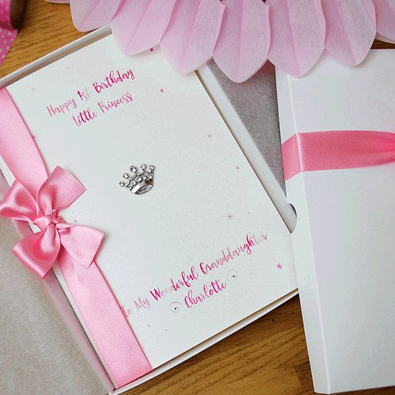 Little Princess Birthday Card 1st 2nd 3rd Personalised Etsy Birthday Cards Handmade Birthday Cards 1st Birthday Cards