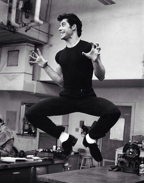 John Travolta, Grease, 1977
