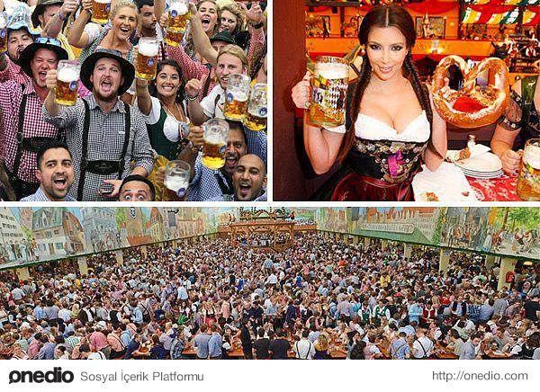Oktoberfest - Münih-Her yıl 6 milyondan fazla insan Almanya'nın Münih şehrine akın ediyor ve 16 gün süren Oktoberfest'e katılıyor. 100 yıllık bir tarihi olan bu festival, birbirinden ilginç bira içme oyunlarıyla dünya çapında ün yapmış durumda ve Avrupa'nın en büyük festivali olarak kabul ediliyor.