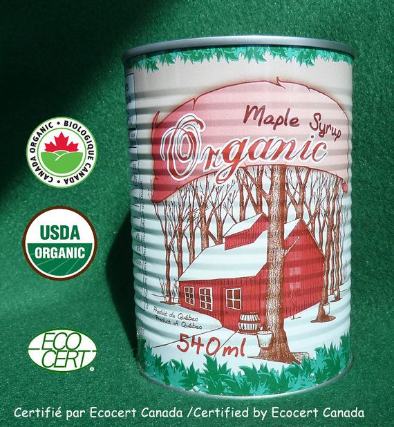 ORGANIC  MAPLE SYRUP  100% Pure from Québec Canada  4 x 19