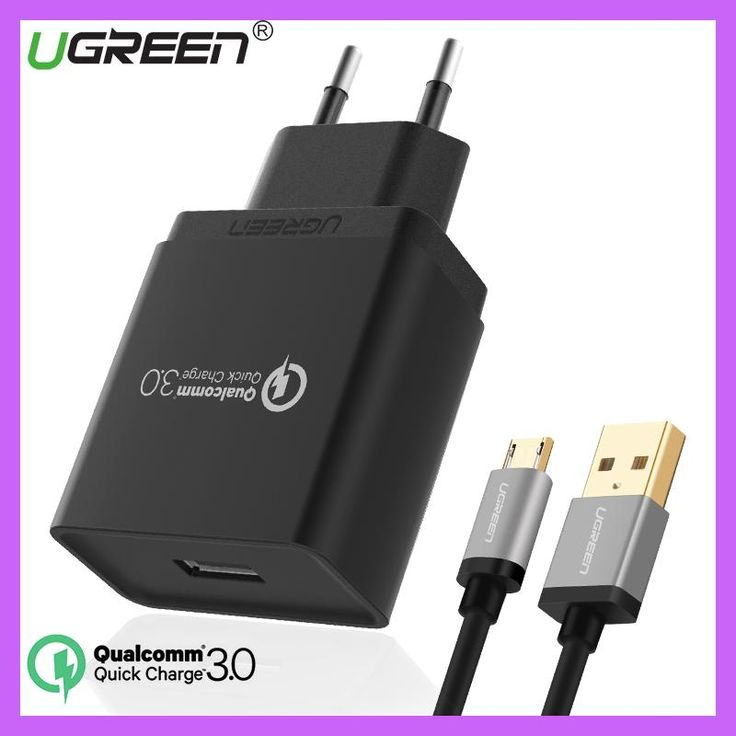 Ugreen 18W Phone USB Charger Quick Charge 3.0 Fast Mobile Phone Charger USB Adapter for Samsung Galaxy S8/S8+/S7/S6/Edge/Nexus 5