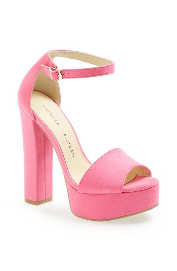 Want this candy pink sandal for prom.