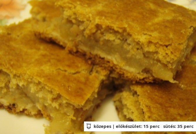 Almás pite zabpehelyliszttel és édesítőszerrel