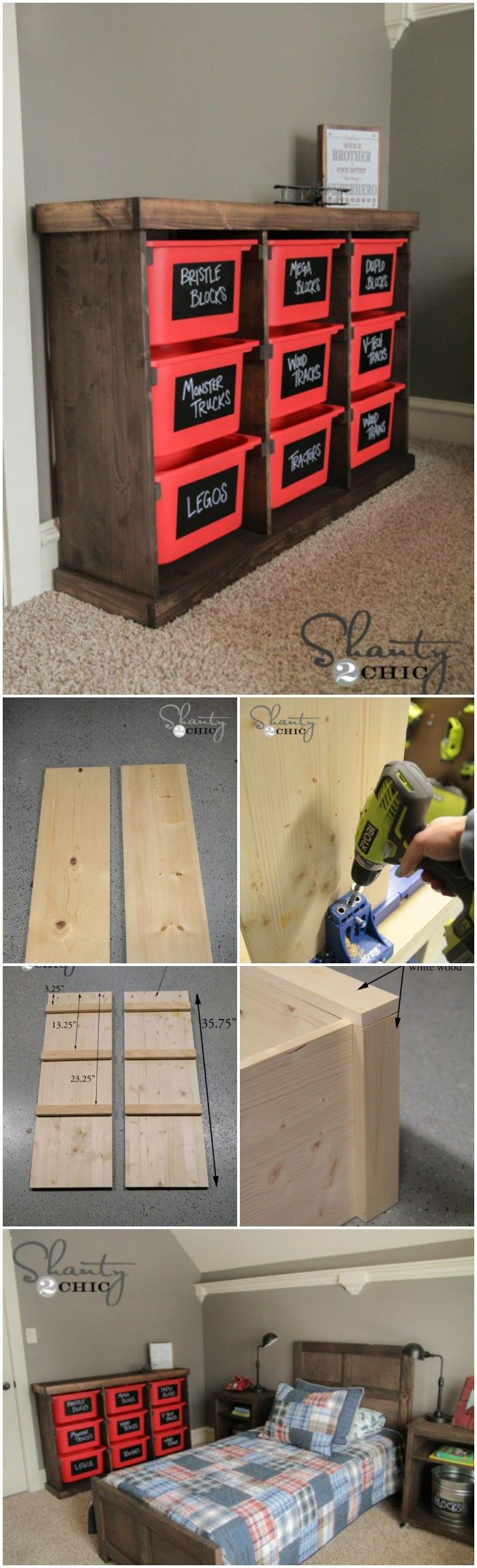 cheap DIY projects for home decoration.That will prove very beneficial to build up a well-decorated home.Wood and Plastic Baskets Storage Rack