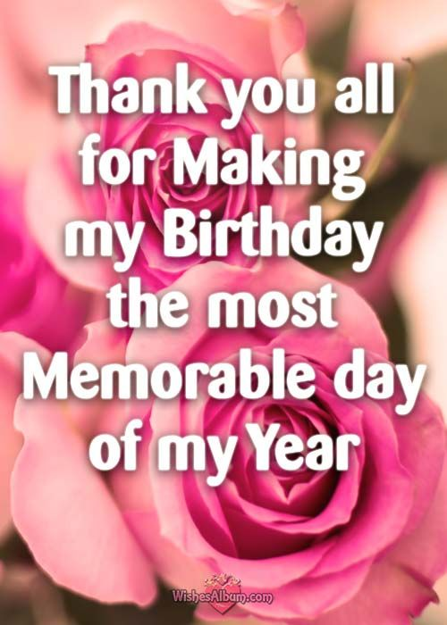 Thank you Messages and Notes for Birthday Wishes for Friends