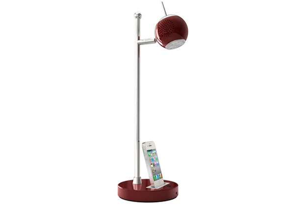 t'Light....The t'Light combines many work desk necessities into a practical yet sleek package. The iPhone/iPod dock and universal USB output port charge your smartphone of choice while the 5 watt speaker plays whatever device is on the dock or plugged into the 3.5 mm jack