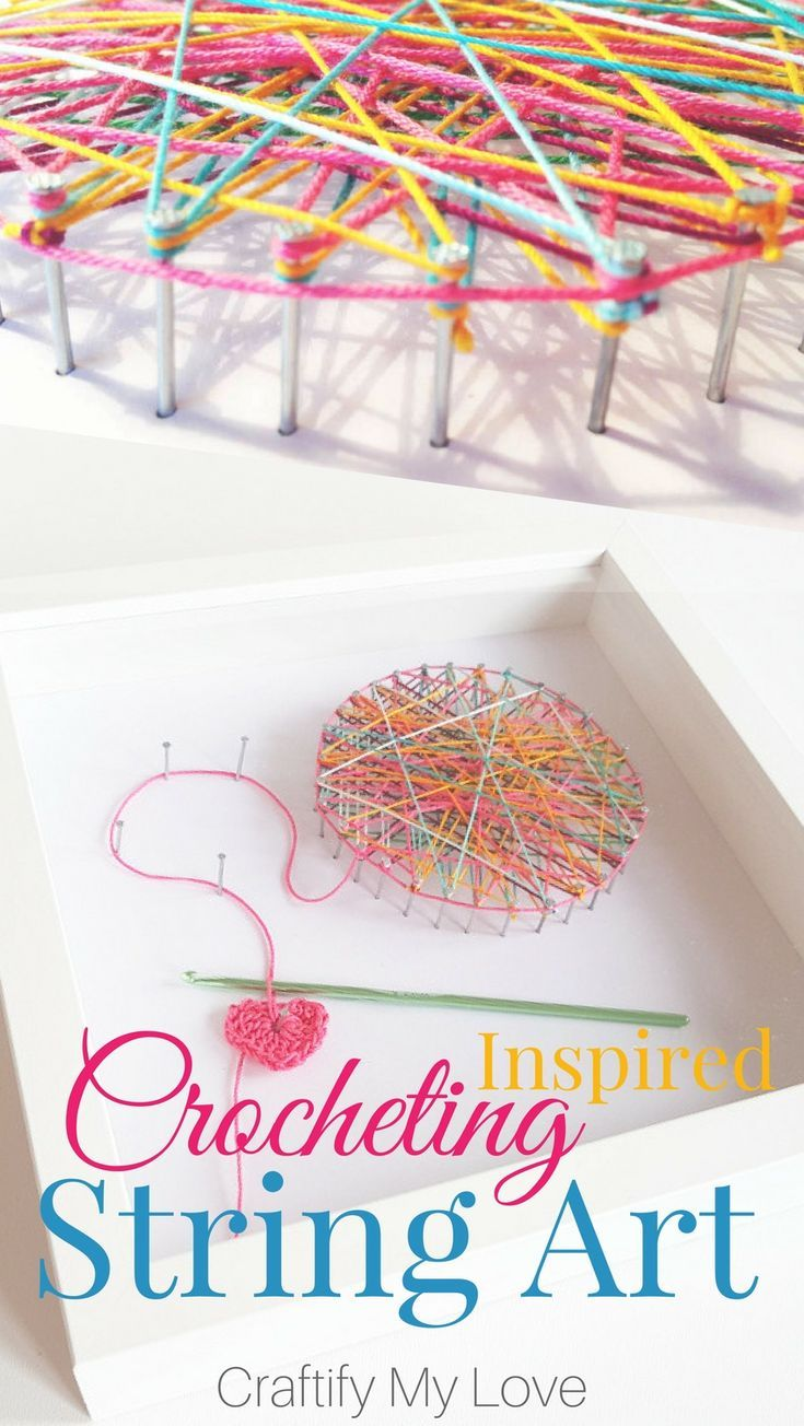 Crocheting Inspired String Art – Craft Room Wall Art