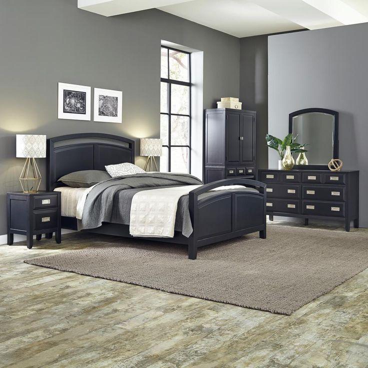 Prescott Queen 3-Piece Black Bedroom Set