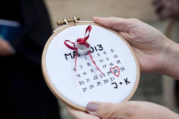 Es muss ja gar nicht immer das klassische Ringkissen sein - heutezutage gibt es wirklich tolle Alternativen! Schaut doch einfach mal, was zu eurem Hochzeitsmotto, der Farbe oder eurem Gesamtkonzept...