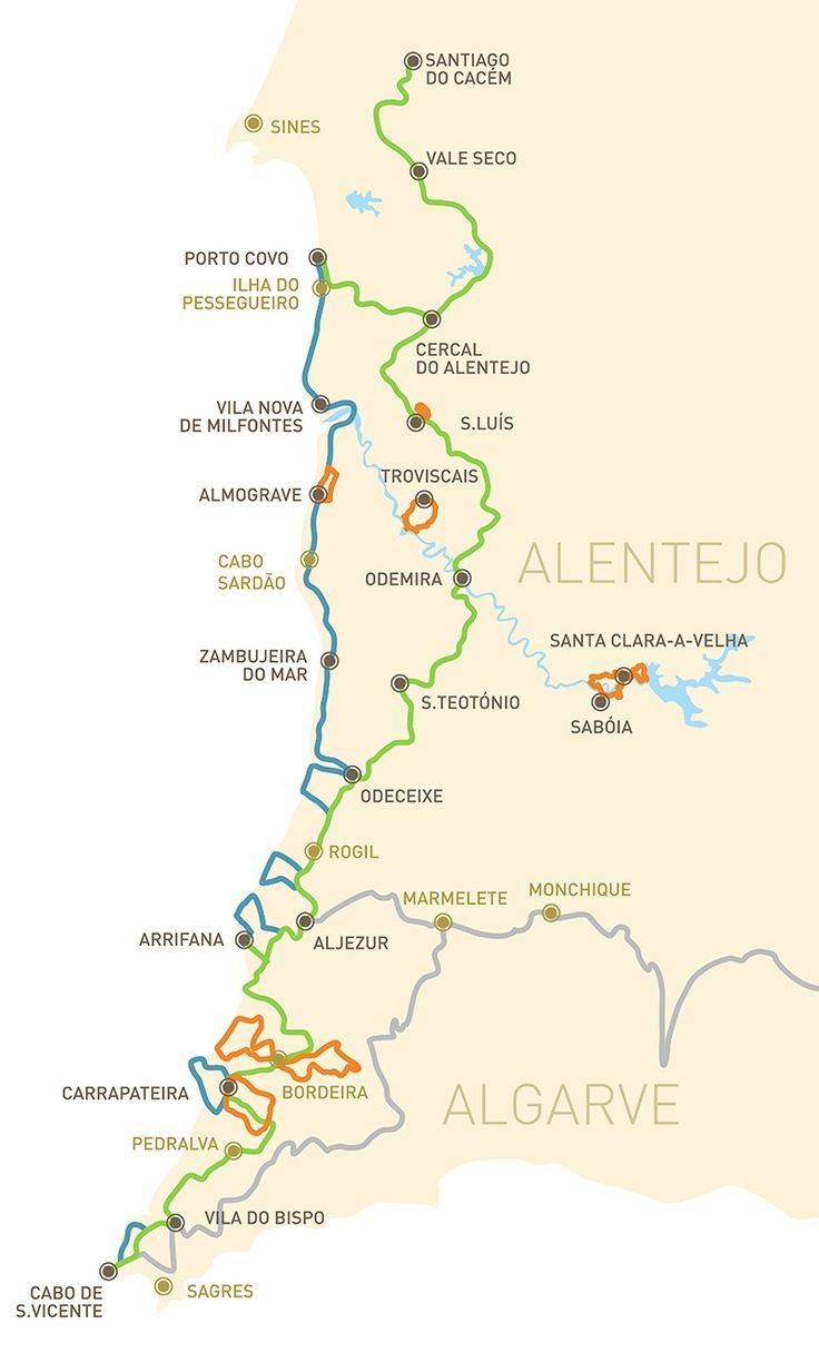 Rota Vicentina is a network of walking trails in Sw Portugal totalling 400 km to walk Fully within Sw Alentejo and Vicentina Coast Natural Park