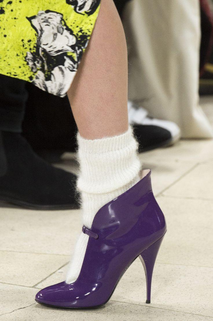 Miu Miu Fall 2018 Fashion Show Details (but please, please, please, no '80s socks with heels!)