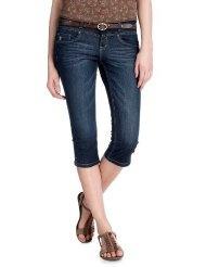 edc by ESPRIT Damen Capri Jeans Normaler Bund, 032CC1B055
