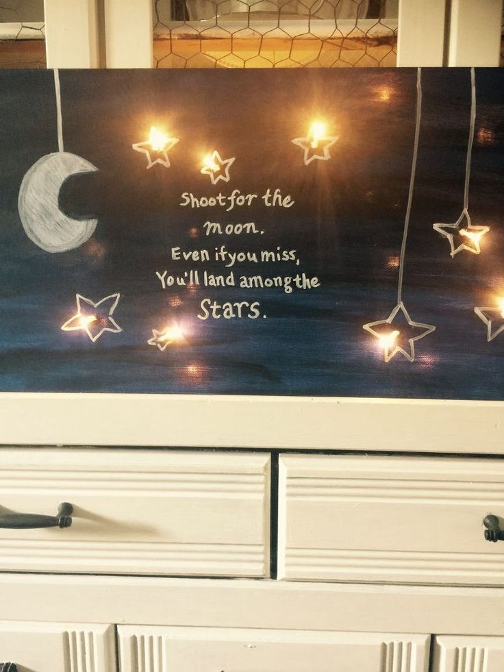 Shoot For The Moon Lighted Canvas