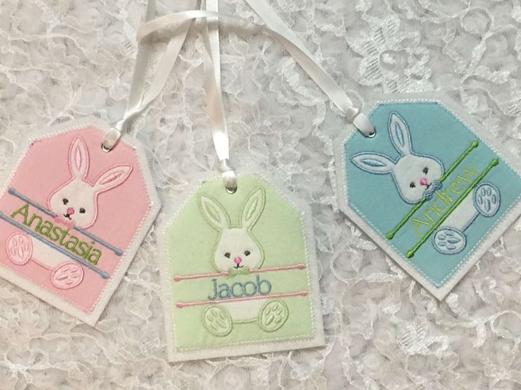 73 best gift tags images on pinterest embroidered gifts free lots of easter basket name tags to choose from negle Choice Image