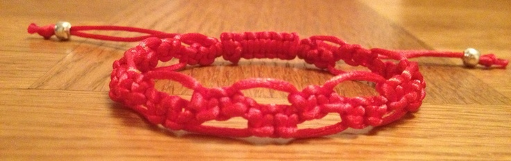 Bracelet Macrame, Love bracelet, January/February valentines day Nickel free silver beads friendship bracelet. £4.25, via Etsy.