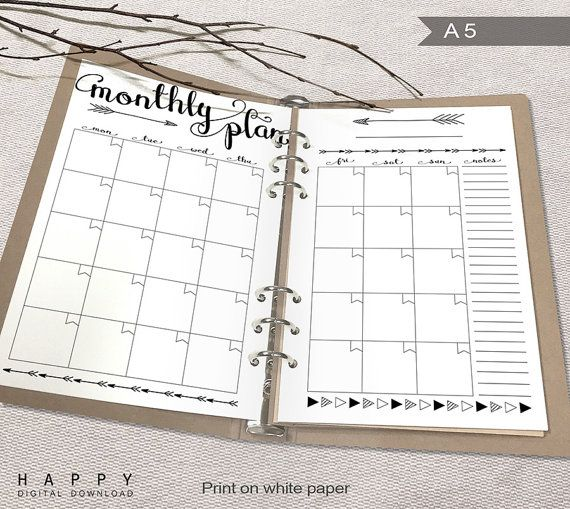 Best 25 Monthly planner printable ideas – Printable Monthly Planner