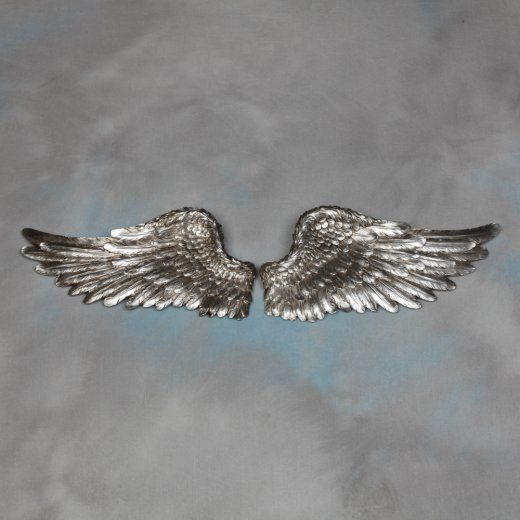 Pair Of Decorative Silver Angel Wings Wall Decor