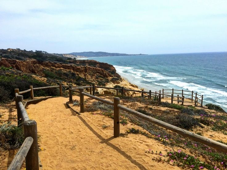 Torrey Pines National Part. La Jolla. Guy Fleming Trail, Southern Overlook