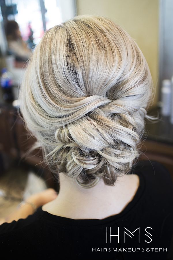 Soft updo for bridesmaids