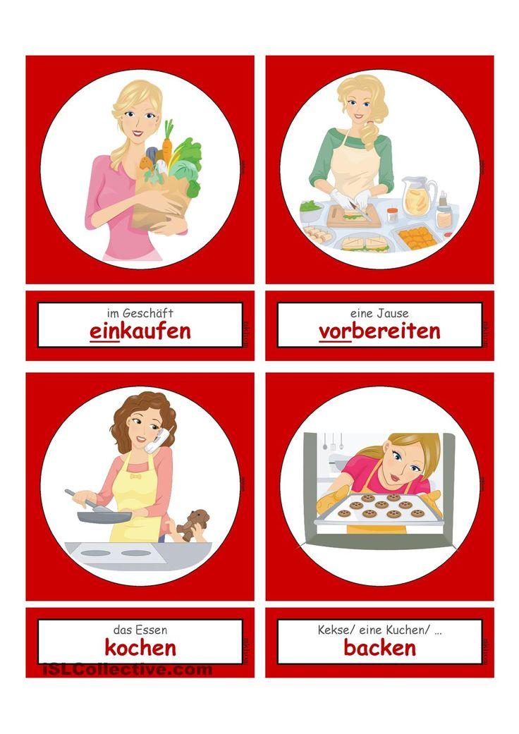 Tätigkeiten im Haushalt & Alltag 1 _ Flashcards klein