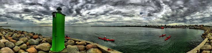 Denmark, Rodvig Havn, breakwater