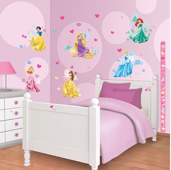 Disney princess stickers for a girls room http www for Disney princess mural stickers
