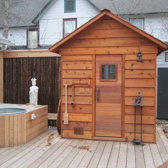 5'x6' Outdoor Sauna Kit + Heater + Accessories