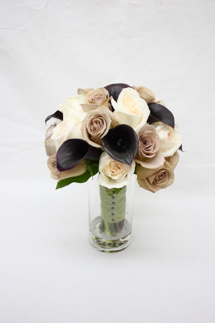 Black White and Beige Bridal Bouquet!