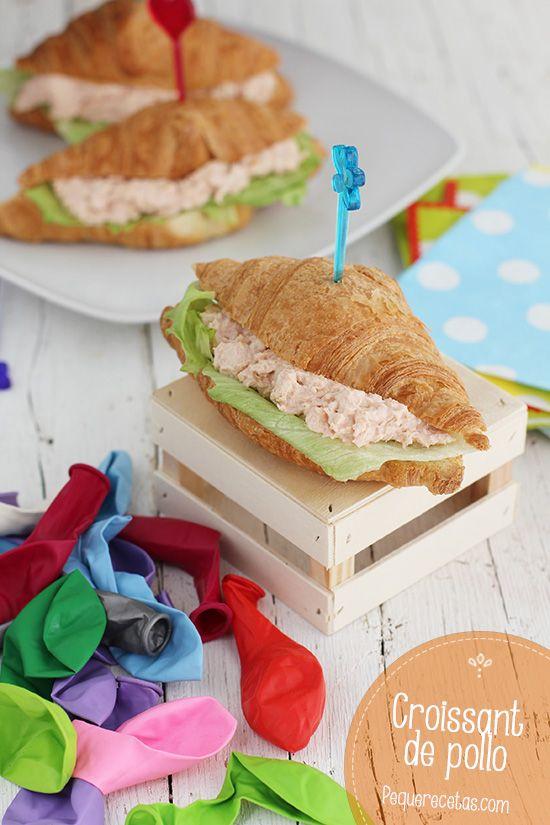 Croissants rellenos de pollo, ideales para cumpleaños