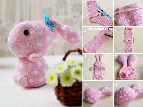 DIY Sock Bunny