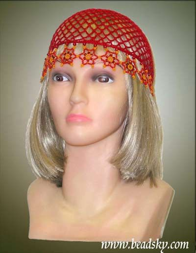 Crochet Hat Patterns With Beads : -Summer crochet hat with beads crochet Pinterest