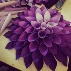 Paper Flower! I want to do this in my classroom