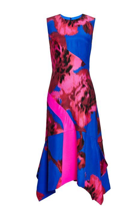 Printed Floral Silk Scarf Hem Dress by Thakoon for Preorder on Moda Operandi