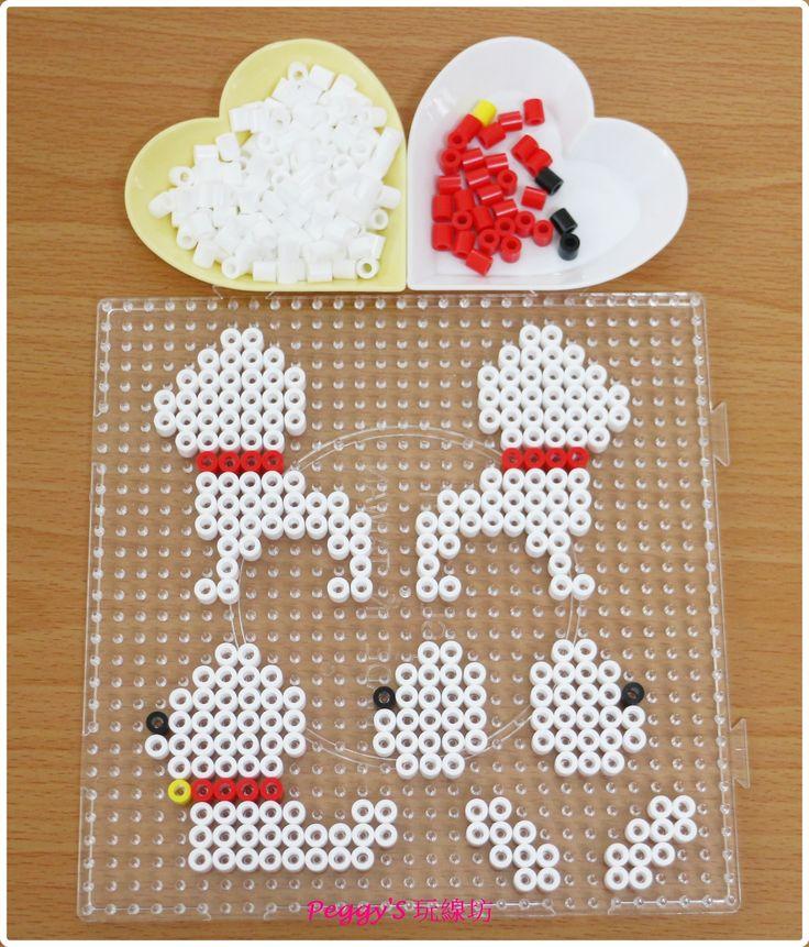 3D Dog perler beads by Peggy Wu - https://de.pinterest.com/pin/374291419012651591/