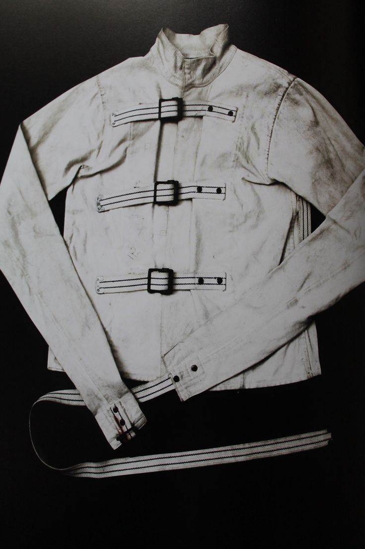 Straitjacket - c.1930s  The straitjacket, or camisole de force as it was originally named, was invented in 1790 by Monsieur Guilleret, who was an upholsterer by trade. It was commissioned for the Bicetre Hospital in Paris, an institution known as the Paris Asylum for Men.