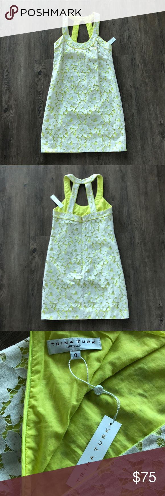 NWT Trina Turk Dress Size 0 NWT Trina Turk Neon Lace Dress Size 0. Trying to clean out my closet, no trade requests please! Trina Turk Dresses