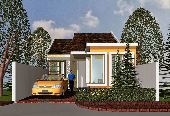 Awesome home design idea with small garden