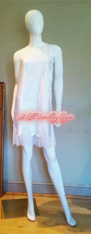 Silk slip white silk slip silk lace nightie Bridal nightgown
