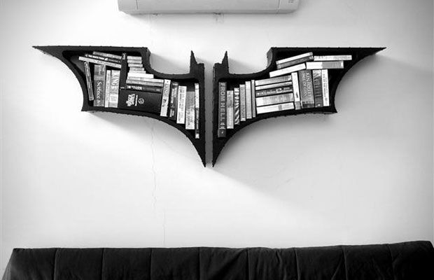 Batman Bookshelves by Fiction Furniture.  Batman theme or video game general theme