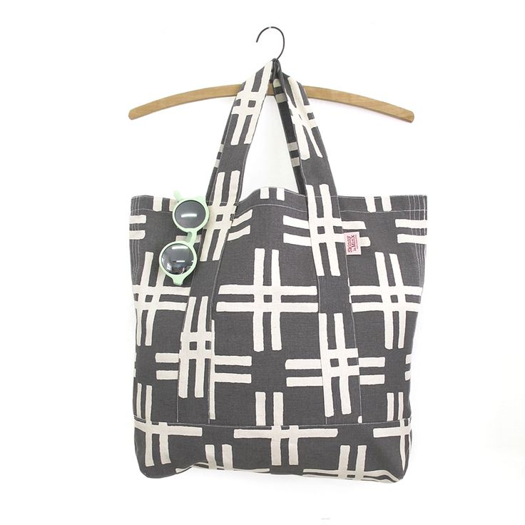 The 'Weft' Alexander Sack from the BRISE SOLEIL collection by Skinny laMinx. This seriously sturdy bag is great for a holiday shopping spree.