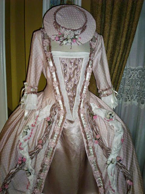 Trajes de epoca vestido rosa s xviii tallas 46 a la 48 - Trajes de carnaval de epoca ...