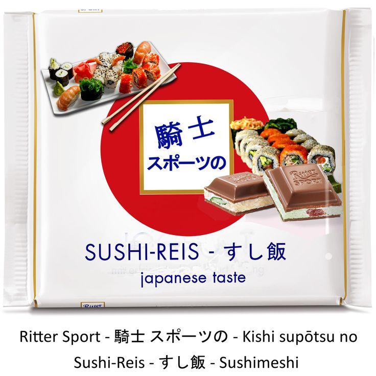 Ritter Sport Fake Sorte - japanisch - Sushi remake