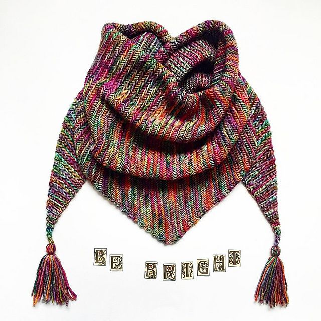 Sorceress Scarf by Life Is Cozy | malabrigo Rios in Diana