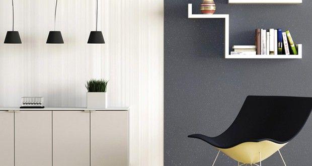 Peinture salon gris anthracite et blanc effet paillette - Peinture gris paillete ...