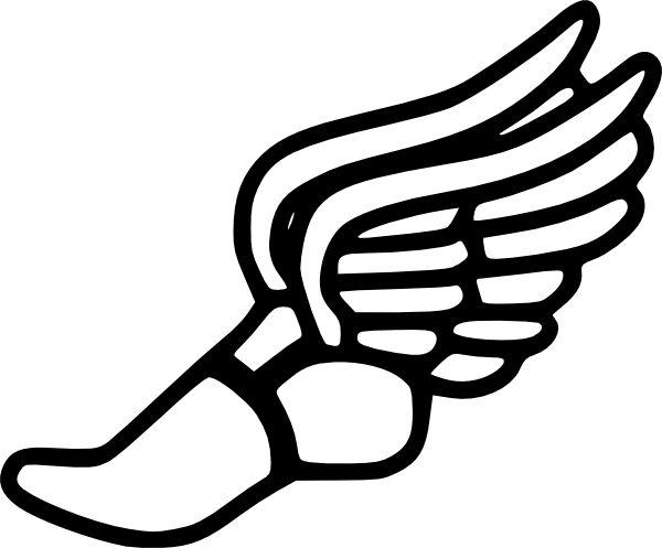 track shoe clip art | Track And Field clip art