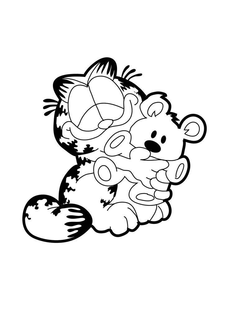 Garfield Face Coloring Pages 27271 | TRENDNET