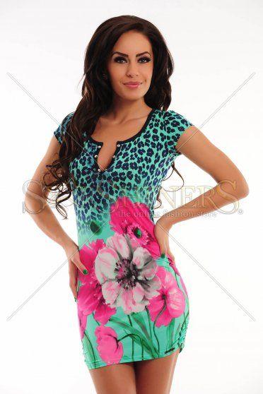 Rochie MissQ Magic Flower Green