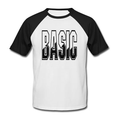 """""""Basic"""" Baseball T-shirt available in Black and White & Navy and White"""