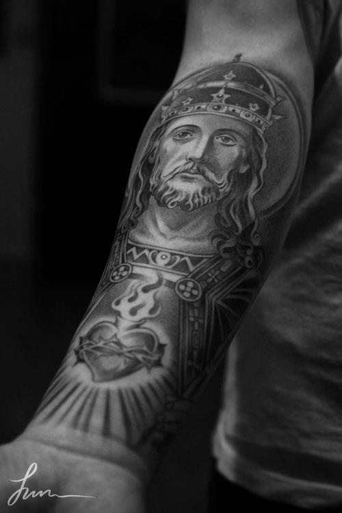 holy jesus .. sacred heart always wanted a sacred heart tat. #tattoo #tattoos #tattoopictures Mais