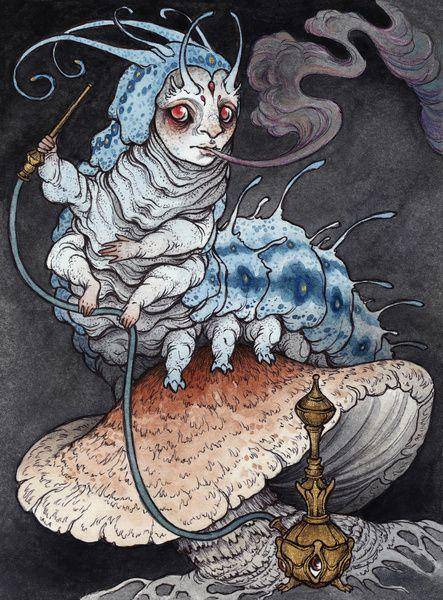 Absolem the Blue Caterpillar  by Caitlin Hackett
